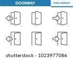 doorway icons. professional ... | Shutterstock .eps vector #1023977086