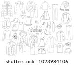 a large set of different types... | Shutterstock .eps vector #1023984106