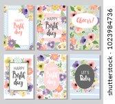 beautiful birthday cards design ... | Shutterstock .eps vector #1023984736