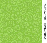 seamless easter eggs pattern... | Shutterstock .eps vector #1023992842