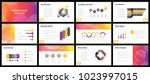 business presentation templates.... | Shutterstock .eps vector #1023997015