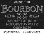 vintage font typeface... | Shutterstock .eps vector #1023999295