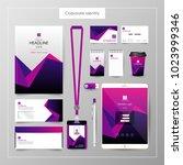 corporate identity template... | Shutterstock .eps vector #1023999346