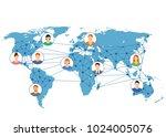 world network. social networks... | Shutterstock .eps vector #1024005076