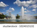view of downtown pittsburgh and ... | Shutterstock . vector #1024015132