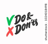 do and don'ts. vector lettering | Shutterstock .eps vector #1024018498