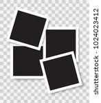 realistic photo frames  vector...   Shutterstock .eps vector #1024023412