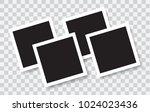 realistic photo frames  vector... | Shutterstock .eps vector #1024023436