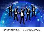 businessmen succeed in foreign... | Shutterstock .eps vector #1024023922