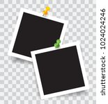 realistic photo frame with... | Shutterstock .eps vector #1024024246