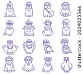owl set images and... | Shutterstock .eps vector #1024025566
