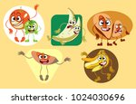funny fruits with hands and legs | Shutterstock . vector #1024030696