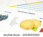 golden bitcoin cryptocurrency... | Shutterstock . vector #1024031002