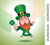saint patrick's day concept... | Shutterstock .eps vector #1024032052
