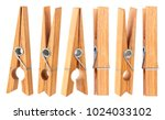 Set of clothespins isolated on...