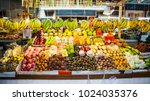 fruits on  local market in...   Shutterstock . vector #1024035376