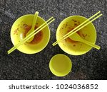 top view empty two dirty big... | Shutterstock . vector #1024036852