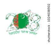 2018 happy new year... | Shutterstock . vector #1024038502
