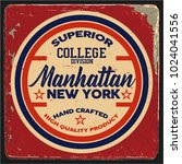 vintage varsity graphics and... | Shutterstock .eps vector #1024041556