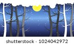 forest and snow  wonderland... | Shutterstock .eps vector #1024042972
