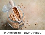 raw organic chickpeas in a...   Shutterstock . vector #1024044892