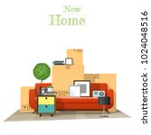 moving home concept background... | Shutterstock .eps vector #1024048516