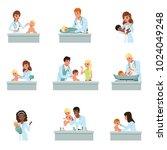 pediatrician doctors doing...   Shutterstock .eps vector #1024049248