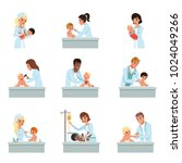 pediatrician doctors doing... | Shutterstock .eps vector #1024049266