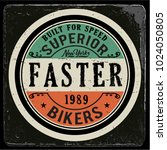 vintage biker graphics and... | Shutterstock .eps vector #1024050805
