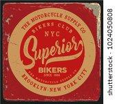 vintage biker graphics and... | Shutterstock .eps vector #1024050808