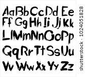 vector  modern font stains... | Shutterstock .eps vector #1024051828