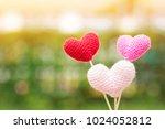 the heart yarn pastel color... | Shutterstock . vector #1024052812