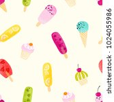 delicate seamless pattern with... | Shutterstock .eps vector #1024055986