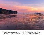 beach and sunset at ao nang... | Shutterstock . vector #1024063636