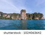 riding longtail boat to... | Shutterstock . vector #1024063642