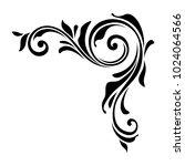vector floral decorative corner ...   Shutterstock .eps vector #1024064566