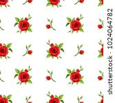 vector seamless pattern with... | Shutterstock .eps vector #1024064782