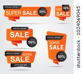 set of sale banner collection ... | Shutterstock .eps vector #1024069045