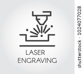 machine for laser engraving... | Shutterstock .eps vector #1024077028