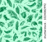 tropical palm leaves  jungle... | Shutterstock . vector #1024082992
