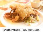 deep fried cod fish and onion...