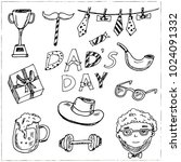 father day hand drawn doodle... | Shutterstock .eps vector #1024091332