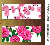 spring sakura cherry blooming... | Shutterstock .eps vector #1024093372