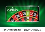 illustration online poker... | Shutterstock . vector #1024095028