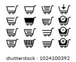 set collection vector shopping...   Shutterstock .eps vector #1024100392