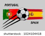 flags of portugal and spain  ... | Shutterstock .eps vector #1024104418