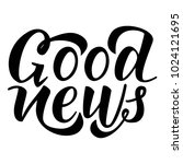 good news. vector black... | Shutterstock .eps vector #1024121695