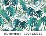 botanical exotic seamless... | Shutterstock .eps vector #1024123312