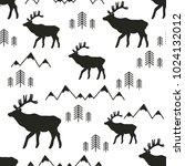 seamless pattern  deers ...   Shutterstock .eps vector #1024132012