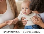 family  parenthood and people... | Shutterstock . vector #1024133032